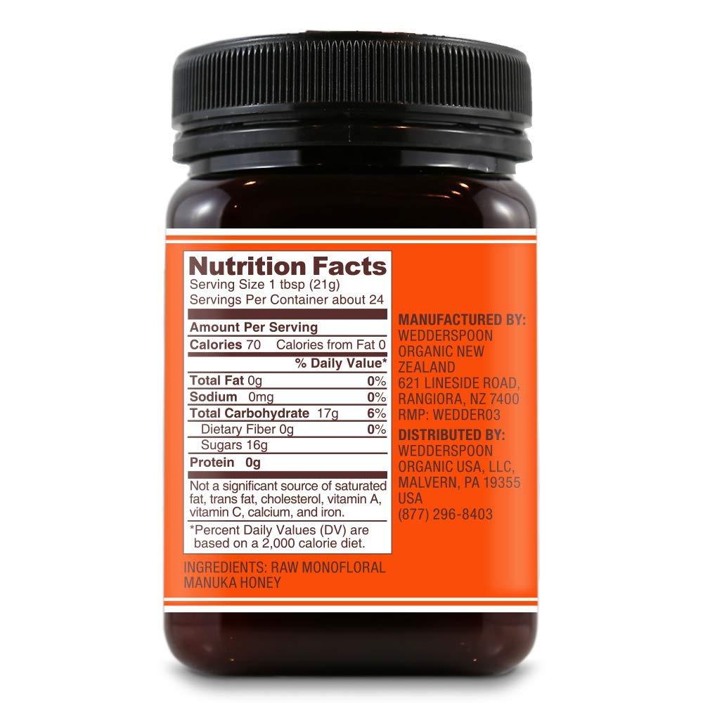Wedderspoon Raw Premium Manuka Honey KFactor 16, 17.6 Oz, Unpasteurized, Genuine New Zealand Honey, Multi-Functional, Non-GMO Superfood, 3 Pack by Wedderspoon (Image #2)