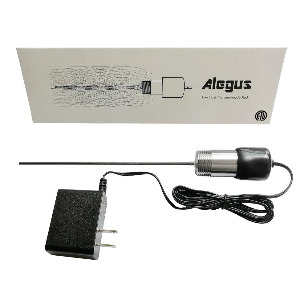 Alegus Powered Anode Rod(30-100 Gallon Tank), Replacement Electrical Anode Rod for Hot Water Heater, Eliminate Odor (Sulfur/Rotten Egg Smell), Tank Corrosion Protection and Reduce Limescale by Alegus