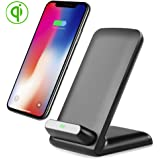 Wireless Charger,Grebest QI Certified Fast Wireless Charging Pad Stand for Apple iPhone X / iPhone 8 / iPhone 8 Plus, Samsung Note 8 / S8 / Note 5 / S6 / S6Edg / S7 / S7Edg and all QI-Enabled Devices