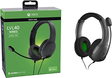 PDP - Auricular Stereo Gaming LVL40 Con Cable, Gris (Xbox One ...