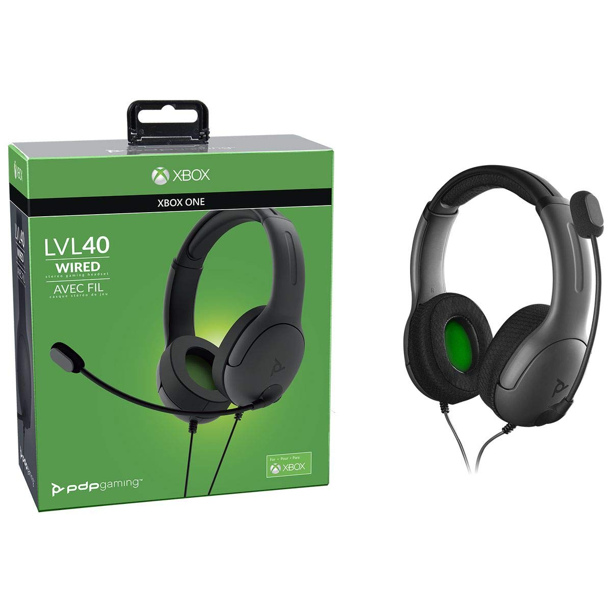PDP Gaming LVL40 Wired Stereo Headset - Xbox One, 048-141 - Xbox One
