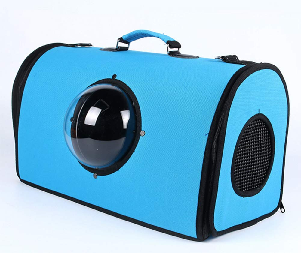 bluee Pet Carrier Travel Bag Softsided Airline Approved Waterproof Space Capsule