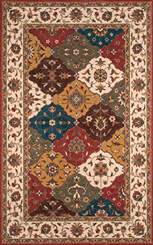 Momeni Rugs PERGAPG-11MTI80A0 Persian Garden Collection, 100% New Zealand Wool Traditional Area Rug, 8' x 10', Multicolor ()