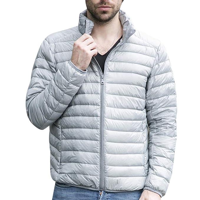 Yiqi Chaqueta Hombre de Pluma Abrigo Invierno Parka Deportiva Chaquetas Outwear: Amazon.es: Ropa y accesorios