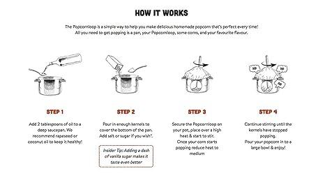 Popcornloop | Stovetop Traditional Popcorn Maker | Healthy Gourmet Popcorn