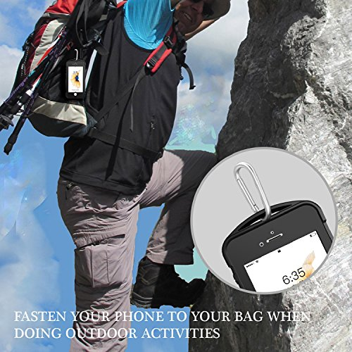 iPhone 7/8 Waterproof Case, Temdan SUPREME Series Waterproof Case with Carabiner Built in Screen Protector Outdoor Rugged Shockproof Clear Case for iPhone 7 and iPhone 8 (4.7 inch) by Temdan (Image #7)