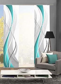 Home Fashion 88150 Flächenvorhänge 3er-Set