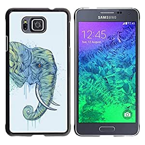 Impact Case Cover with Art Pattern Designs FOR Samsung ALPHA G850 Elephant Art Magnificent Africa Savannah Painting Betty shop