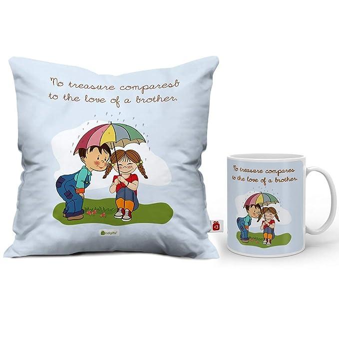 Amazon.com: Indigifts Rakshabandhan - Taza de café con texto ...