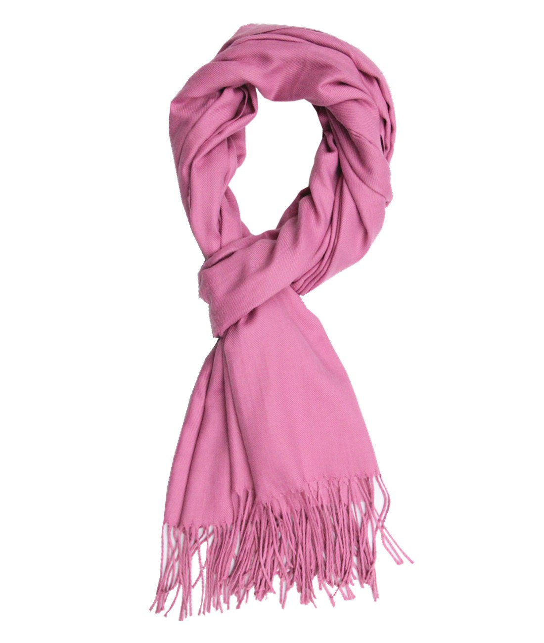 Saferin Men Women Winter Plaid Soft Elegant Cashmere Feel Wrap Scarf (Solid Dark Pink)