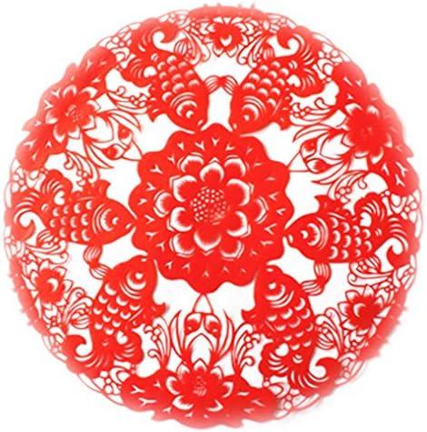 紙カットアウト切り紙を切る4用紙のセットは、中国の手作りのデザイン