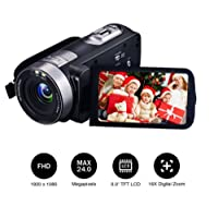 Camcorder Camera Video Camera Digital Camera Full HD 1080p 24.0MP Webcam 16x Digital Zoom 3 Inch Screen Camcorder With Remote Control