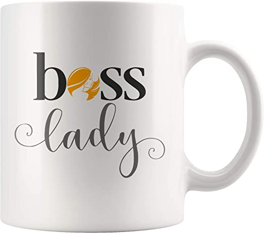Boss Lady Mug Birthday Christmas Cool Gifts For Women Bosses Gifts For Women Female Friend Mom For National Boss Day 11oz Ceramic Coffee Cup Teacup