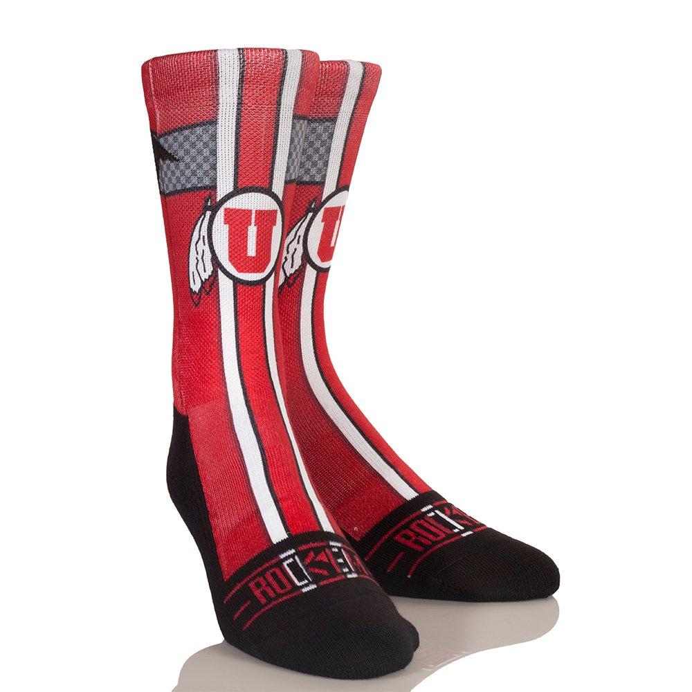 Rock Em Apparel University of Utah Utes Custom Athletic Crew Socks