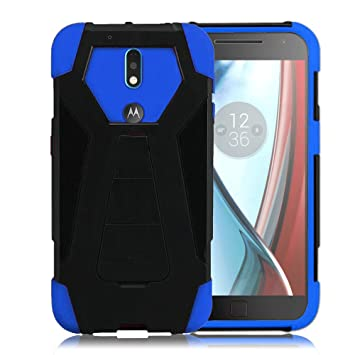 Zizo Hybrid Turbo Cover For Motorola G4 Plus Heavy Duty Dual Layer Rugged Shell Phone Protective