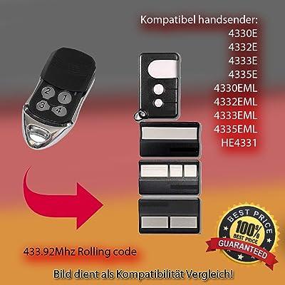 /4330E/4332e/4333E/4335E, 4330eml, 4332eml, 4333eml, 4335eml, compatible HE4331émetteur Replacement la télécommande, 433.92Mhz rolling code
