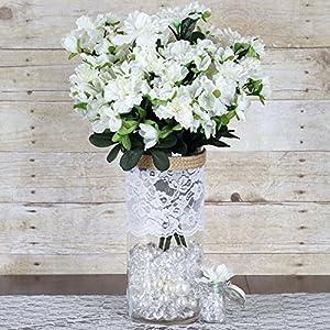 BalsaCircle 120 pcs Silk Gardenia Flowers - 4 Bushes - Artificial Wedding Party Centerpieces Arrangements Bouquets Supplies 13