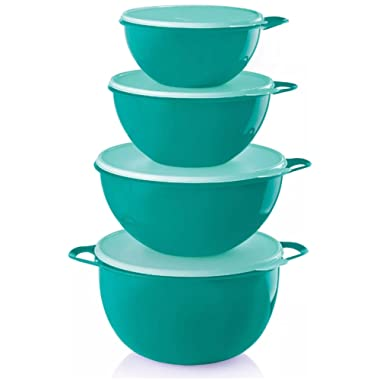 Tupperware Thatsa Bowl 4 Piece Set in Teal