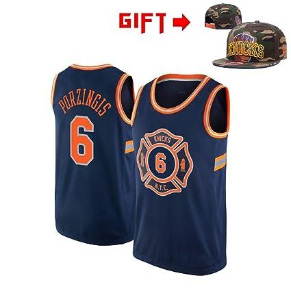 the best attitude 55d86 20099 HWHS316 New York Knicks #6 Kristaps Porzingis Basketball ...