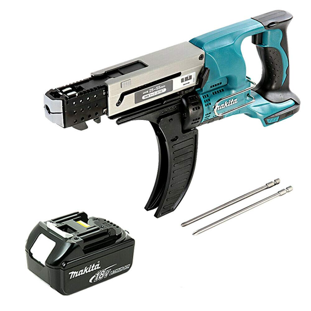 Makita DFR550Z 18V LXT Auto Feed Screwdriver with 1 x 6Ah Battery