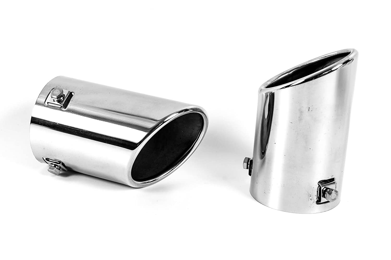 Super Optik Seitronic 2X Auspuffblenden aus Edelstahl f/ür Endrohre Chrom