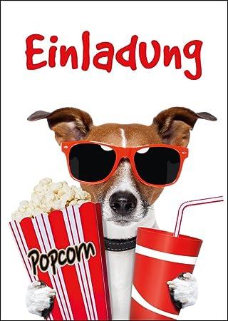 Kino Einladungen (Set 1): 10 Er Set Lustige Kino Einladungskarten