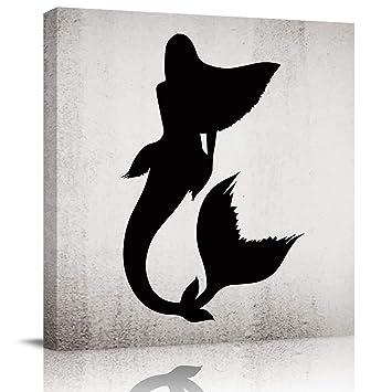 C A Mermaid  Silhouette Art Print Home Decor Wall Art Poster