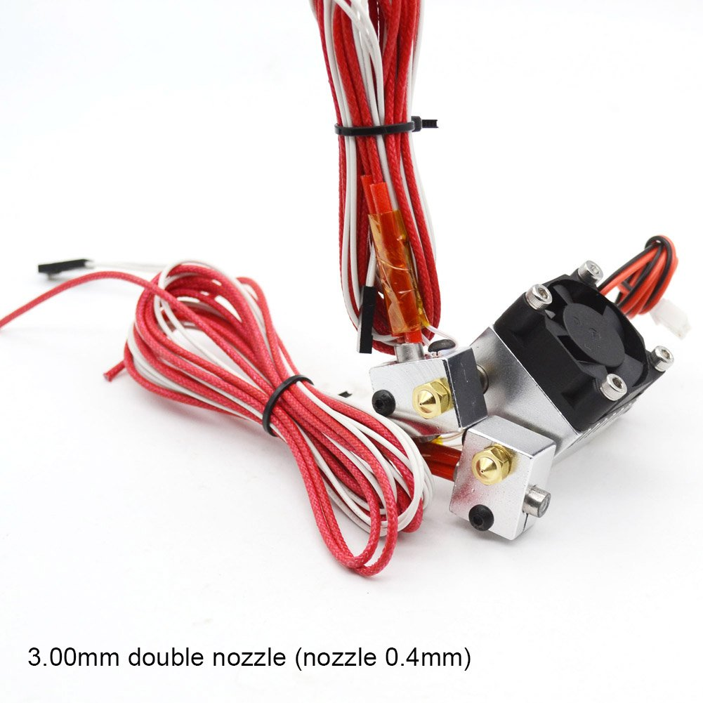 ROKOO 3D Drucker Teil Dual Doppel Extruder Kit 0, 4mm 1, 75/3mm Dü senkopf fü r E3D V5V6 1ae3we2sv2nm6za5D01