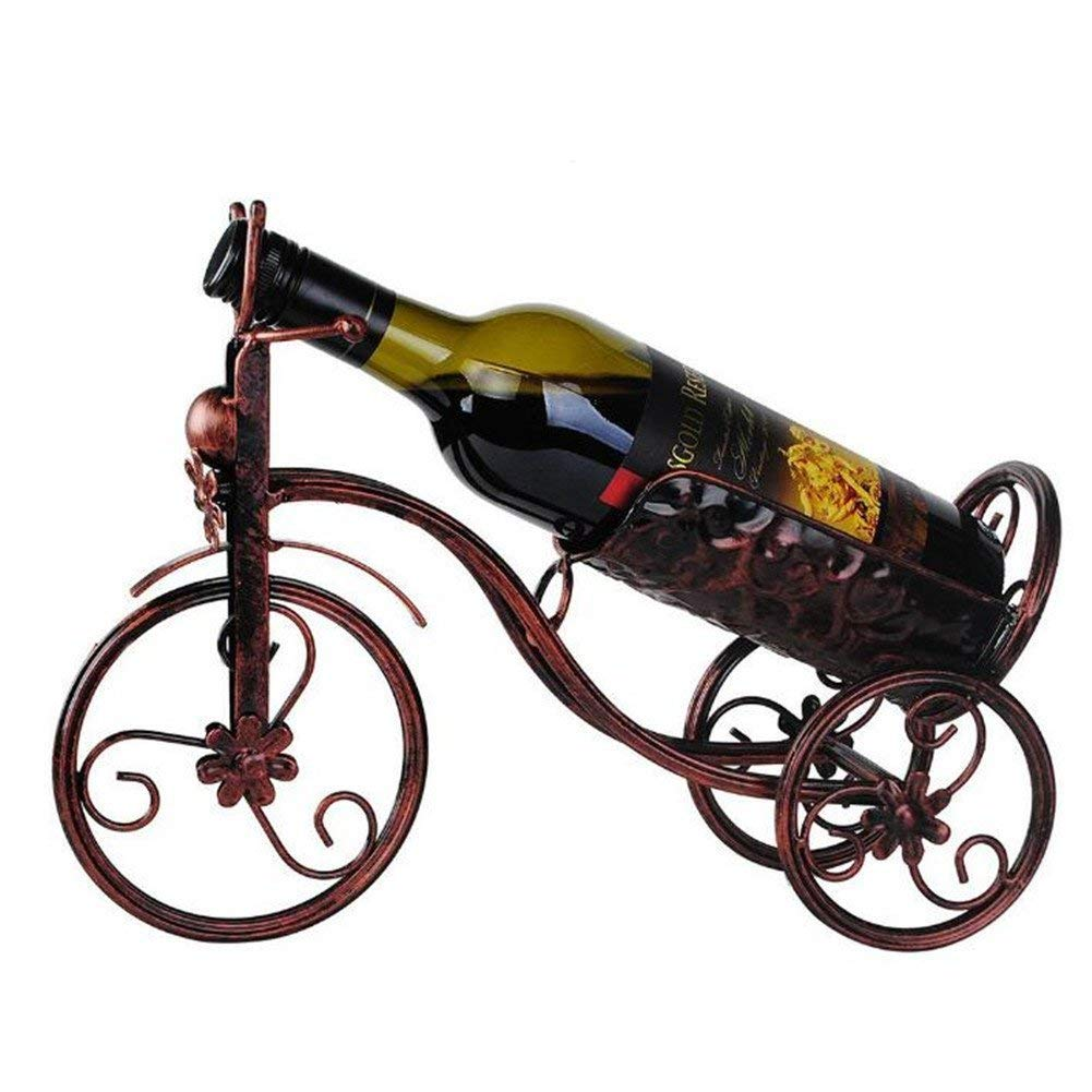 Metal Red Wine Rack Tricycle-shaped Wine Storage Holder Home Bar Beer Whisky Wine Bottles Display Shelf Wine Champagne Bottle Tabletop Holders Wine Glass Support Stand Home Decorative Ornaments Crafts