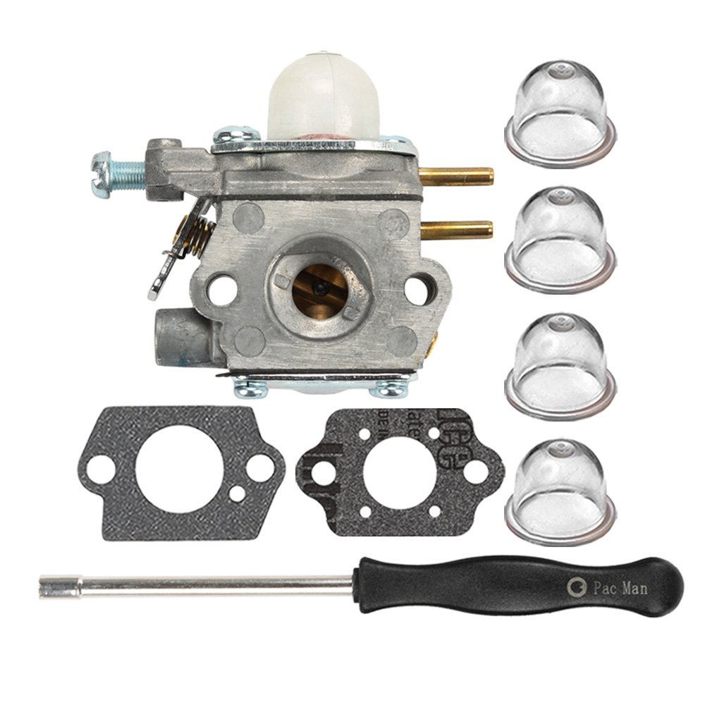 HIPA WT-973 Carburetor with Fuel Line Fuel Filter Spark Plug for MTD Remington RM2510 RM2520 RM2560 RM2570 RM2599 RM2750 RM4625 Murray M2500 M2510 String Trimmer Brushcutter