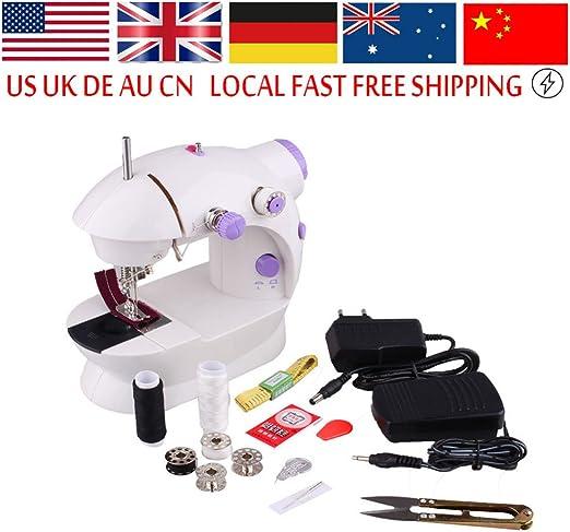 RDPSA Maquina Coser Overlock Mini máquina de coser eléctrica ...