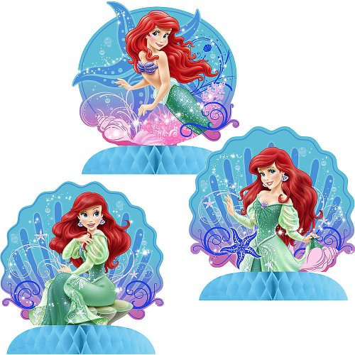 (Little Mermaid Sparkle Mini Table Centerpieces - 3)