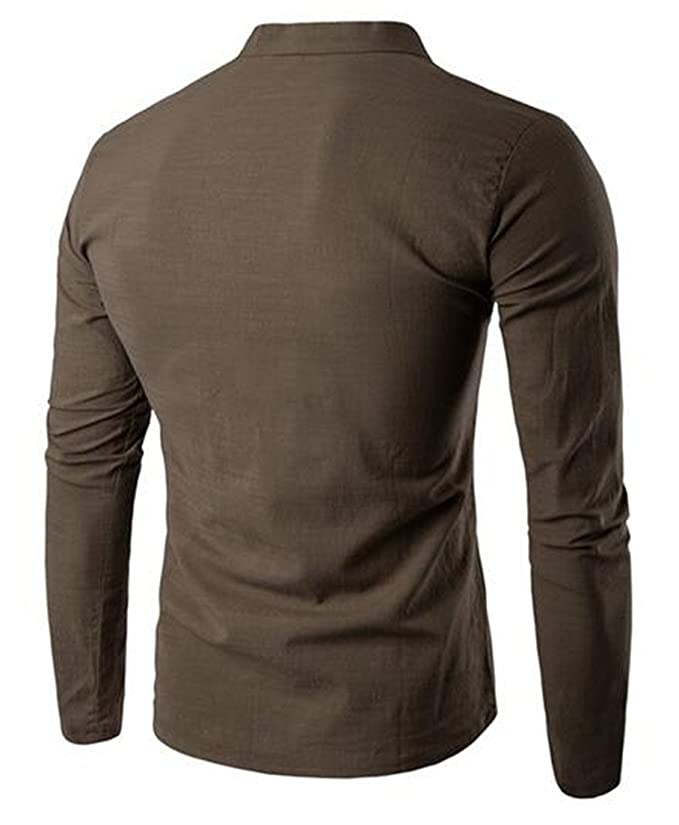 Pandapang Men Short Sleeve Solid Color Tops Round Neck Ripped Hole Shirt Tees