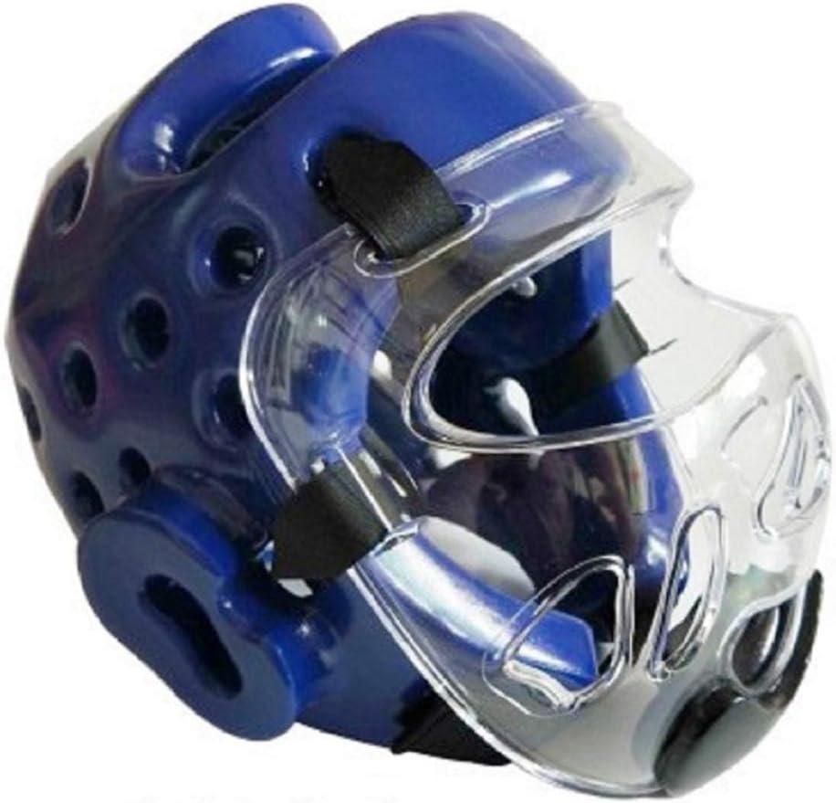 Horen Casco de Boxeo Casco de Protección para La Cabeza de Taekwondo Karate Boxeo Sanda Máscara Cabeza Protector de La Cabeza Casco Protector de Cabeza Casco Protector de Karate Casco Universal