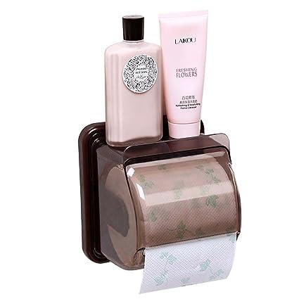 Papel higiénico soporte baño impermeable de plástico percha de rollo de papel soporte para dispensador de