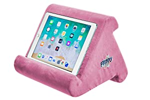 Flippy Multi-Angle Soft Pillow Lap Stand for iPads, Tablets, eReaders, Smartphones, Books, Magazines, Pink