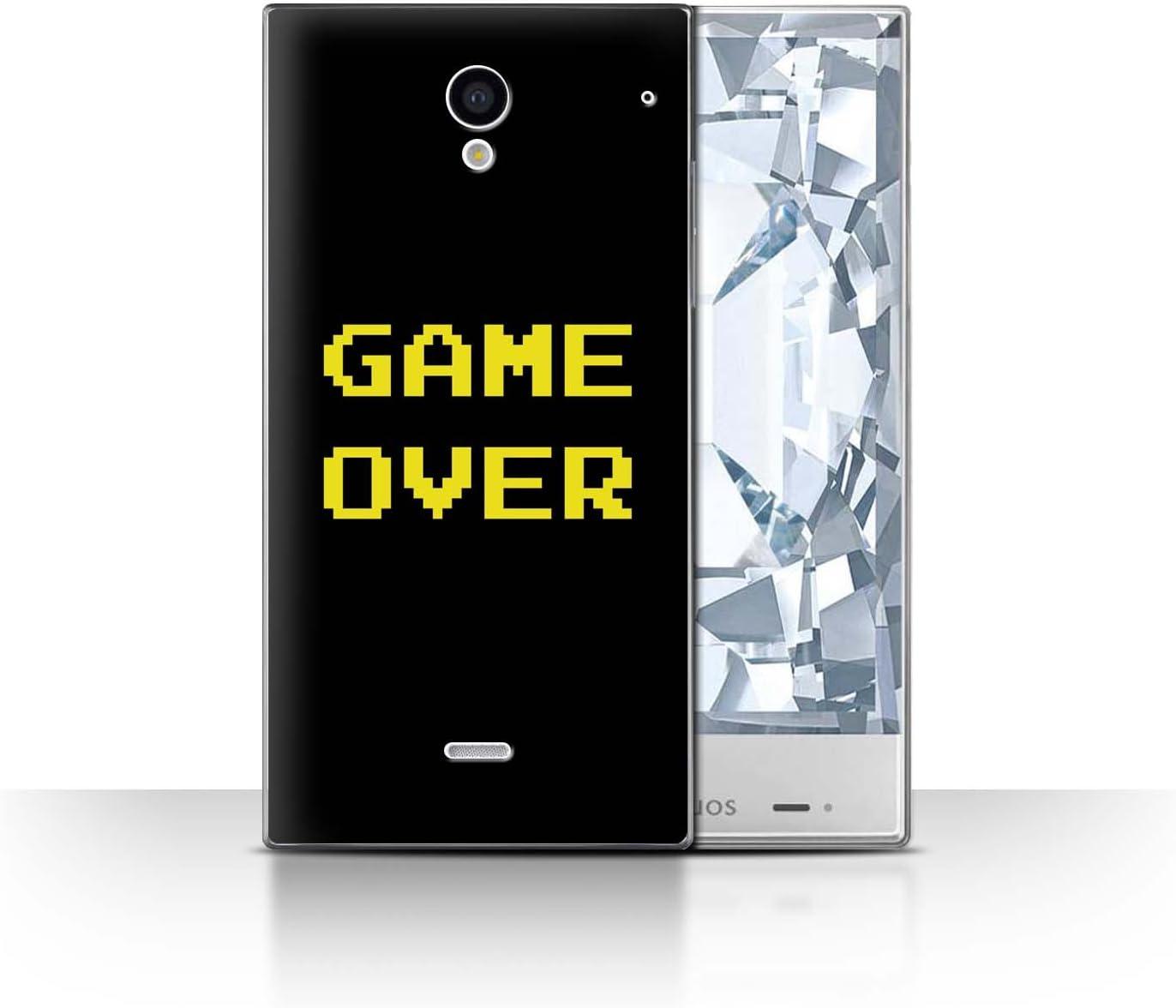 Stuff4® ® Phone Case/Cover/Skin/SP de CC/Retro Arcade Games Collection Game Over Sharp Aquos Crystal/306SH: Amazon.es: Informática