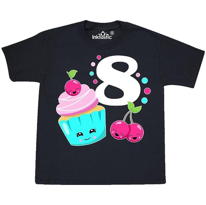c6aa98aadb52 Amazon.com  inktastic - Happy Cupcake Eighth Birthday Youth T-Shirt ...