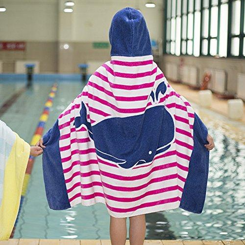 EDTara Cotton Beach Towel Big Size Children Adult Bath Swimming Hooded Towel Buckles (Row Kids Bath)