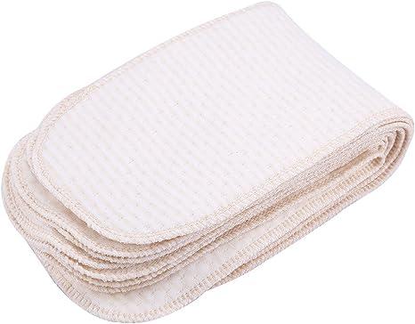 10pcs pañales de tela reutilizables con Pañales de algodón muy ...
