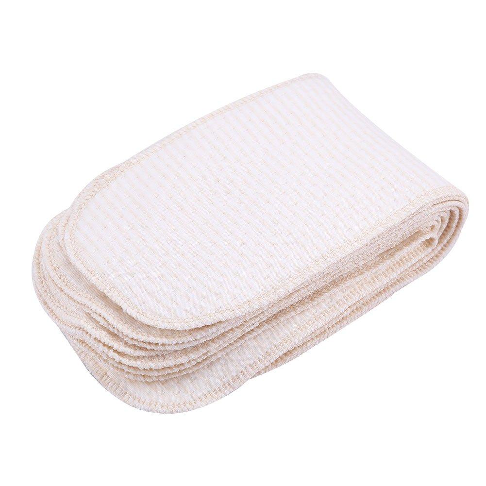 Zerodis 10Pcs Breathable Cotton Diaper Newborn Baby Reusable&Washable Cloth Pads Infant Soft Insert Nappy