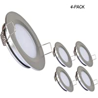 Attractive Acegoo RV Boat Recessed Ceiling Light 4 Pack Super Slim LED Panel Light DC  12V 3W
