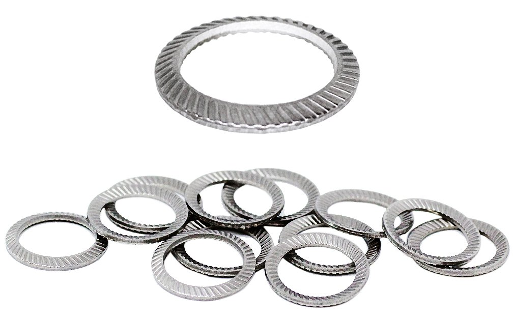 (50pcs) M12 Stainless SCHNORR Brand Ribbed Safety Spring Lock Washer Metric, BelMetric WSH12SS-X