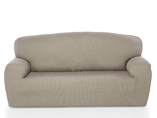 textil-home - Funda de Sofá Elástica Marian, 3 plazas - Desde 180 a 240cm. Color Beige