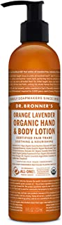 product image for Dr. Bronner's - Organic Lotion (8 Ounce) - Body Lotion and Moisturizer, Certified Organic, Soothing for Hands, Face and Body, Highly Emollient, Nourishes and Hydrates, Vegan (Orange Lavender)