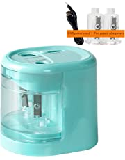 Electric Pencil Sharpener, Anlem Pencil Sharpener Automatic for 2B and Colored Pencil USB or Battery Operated Kids Safety for School Classroom, Home, Office, Studio (Blue)
