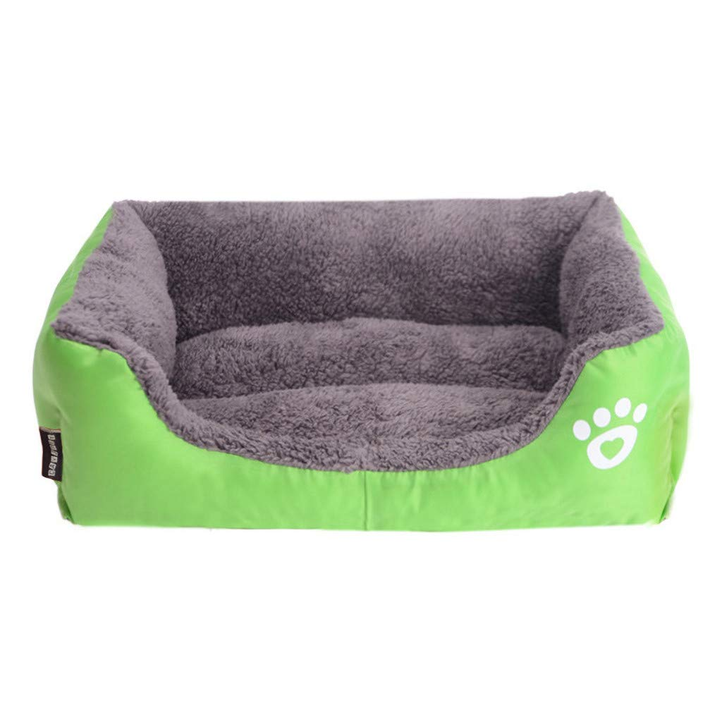 TozuoyouZ Dog Bed - Snuggly Sleeper - Rectangle Pet Bed, Extra Comfy Cotton-Padded Rim Cushion and Nonslip Bottom (Green,XXL) by TozuoyouZ