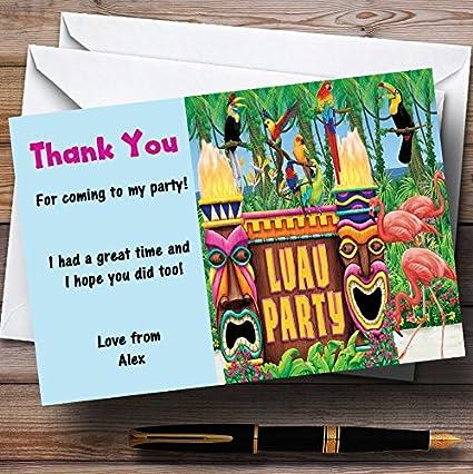 Turquesa hawaiano Tropical Luau - fiesta tarjetas de ...