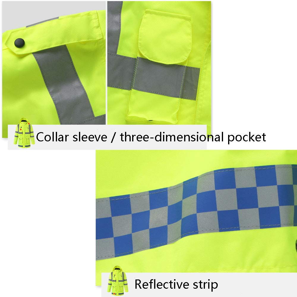 YYHSND Reflective Raincoat, Traffic Warning Adult Split Reflector, Motorcycle Riding Thick Waterproof Suit Reflective Vests (Size : XL) by YYHSND (Image #1)