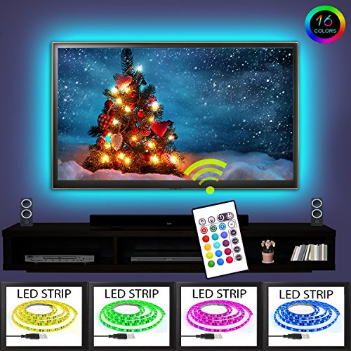 Tv Led Backlight RGB 16 Changing Colors USB Waterproof Led Lighting 2m Strip Set 3M Adhesive Tape For 40